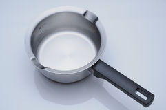 Stainless steel saucepan Royalty Free Stock Images