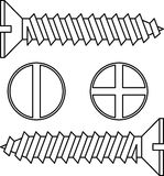 Stainless steel screw. Stock Photography