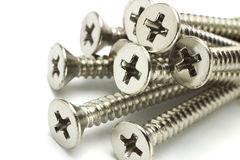 Stainless steel screws Royalty Free Stock Images