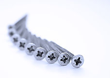 Stainless steel screws Stock Image