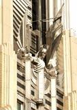 Spirit of light sculpture. Stainless steel sculpture ,named the spirit of light, on the facade of the niagara mohawk building in syracuse, new york Royalty Free Stock Photos