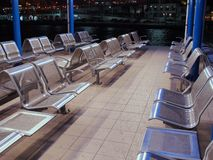 Stainless Steel Seats Royalty Free Stock Photography