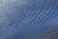 Stainless Steel Shingles on a Curved Roof Royalty Free Stock Image