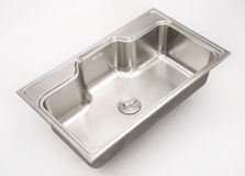 Stainless steel sink Stock Images