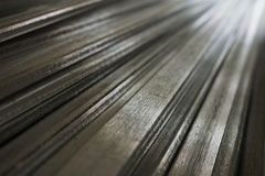 Stainless steel slat 3 Royalty Free Stock Photos