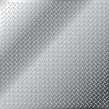 Stainless steel small diamond tread pattern. Vector background of shiny stainless steel metal diamond cross hatch tread pattern Royalty Free Stock Photos