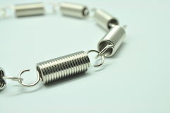 Stainless steel spring coils Royalty Free Stock Image