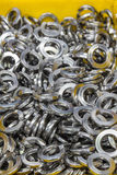Stainless steel spring washers Stock Photography