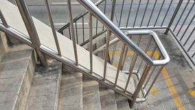 Stainless steel. Railing.Fall Protection royalty free stock images