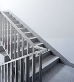 Stainless steel stairs Stock Images