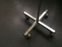 Stainless steel stand with wheels Stock Photos