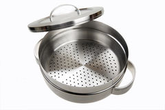 Stainless steel steamer Royalty Free Stock Photo