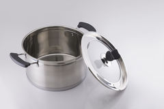 Stainless steel stockpot Stock Photography