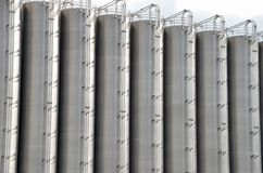 Stainless steel storage tanks Stock Images