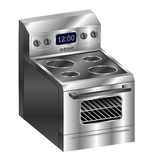 Stainless Steel Stove Royalty Free Stock Photo