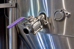 Stainless steel tank and fittings Stock Image