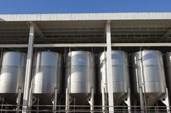 Stainless steel tanks Stock Photography