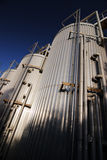 Stainless steel tanks Royalty Free Stock Photography