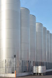 Stainless steel tanks Royalty Free Stock Image