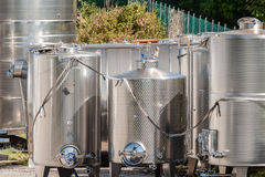 Stainless steel tanks. Royalty Free Stock Images