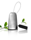 Stainless steel tea bag Royalty Free Stock Photos