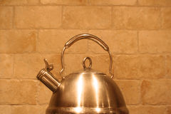 Stainless steel teapot Royalty Free Stock Images