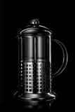 Stainless steel teapot on black Royalty Free Stock Photo