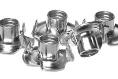 Stainless Steel Tee Nuts Isolated Royalty Free Stock Photo