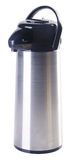 Stainless steel thermo flask on white background Stock Image