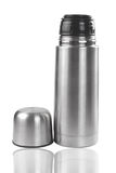 Stainless steel thermos Royalty Free Stock Photos