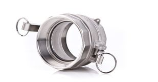 Stainless Steel Threaded Pipe fitting Stock Photography