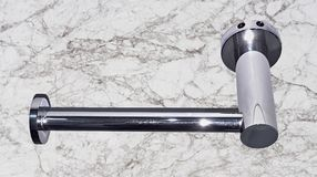Stainless steel toilet paper holder with nickel-plated coating stock photography