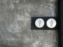 Stainless steel Toilet sign stock images