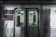 Stainless Steel Train Number 6189 Doors Closed Royalty Free Stock Photography