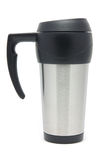 Stainless steel travel mug Royalty Free Stock Images