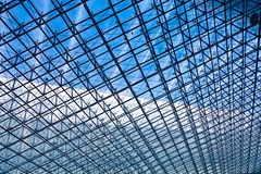 Stainless steel truss roof. Of the gymnasium Royalty Free Stock Images