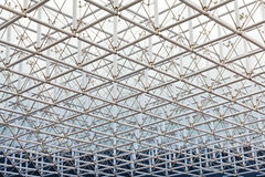 Stainless steel truss roof Stock Photos