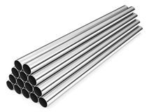 Stainless steel tubes Royalty Free Stock Images