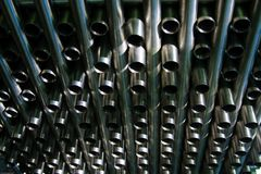 Stainless steel tubes Stock Images