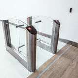 Stainless steel turnstiles. Royalty Free Stock Image