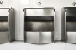 Stainless steel urinal Royalty Free Stock Photo