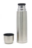 Stainless steel vacuum insulated briefcase bottle Stock Photo
