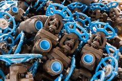 Stainless steel valve Royalty Free Stock Photos