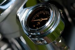 Stainless Steel Vehicle Fuel Gauge Royalty Free Stock Images