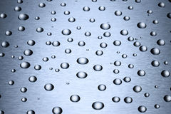 Stainless Steel Water Drops Background Royalty Free Stock Image