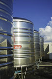 Stainless steel water tank Stock Photos