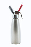 Stainless Steel Whipped Cream Dispenser Royalty Free Stock Photography