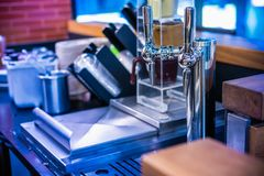 Stainless Steel Whipped Cream Dispenser machine and Head Stainle stock images