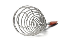Stainless steel whisk Royalty Free Stock Photography