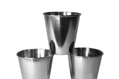 Stainless still cups for drink Stock Image